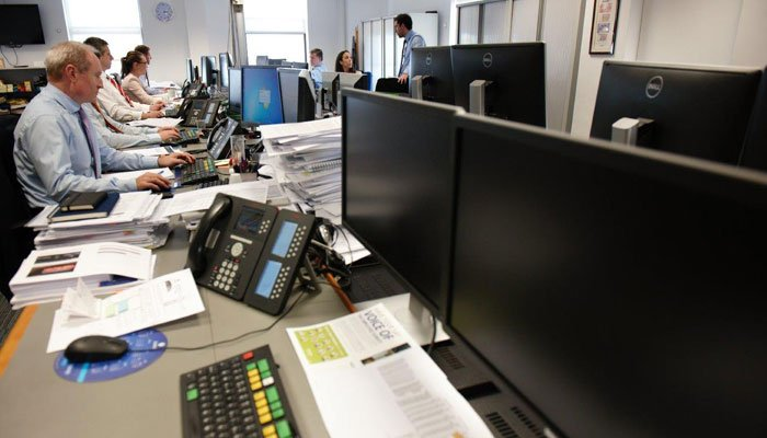 Trading room at Zurich Life Investments Ireland