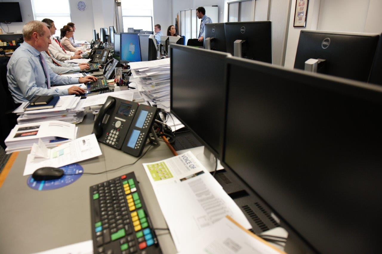 Trading room at Zurich Life Investments